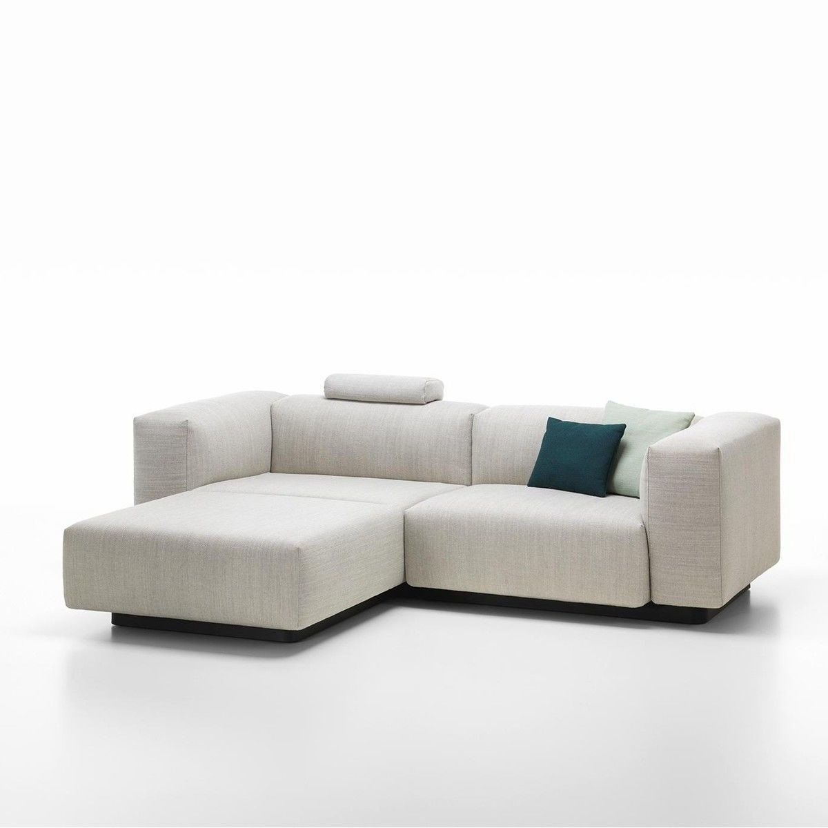 soft modular 2 seater sofa vitra. Black Bedroom Furniture Sets. Home Design Ideas