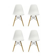 Vitra - Eames Plastic Side Chair DSW 4er Set