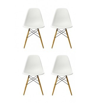 Vitra Eames Plastic Side Chair Dsw 4er Set Ambientedirect