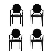 Kartell - Louis Ghost - Set de 4 sillas