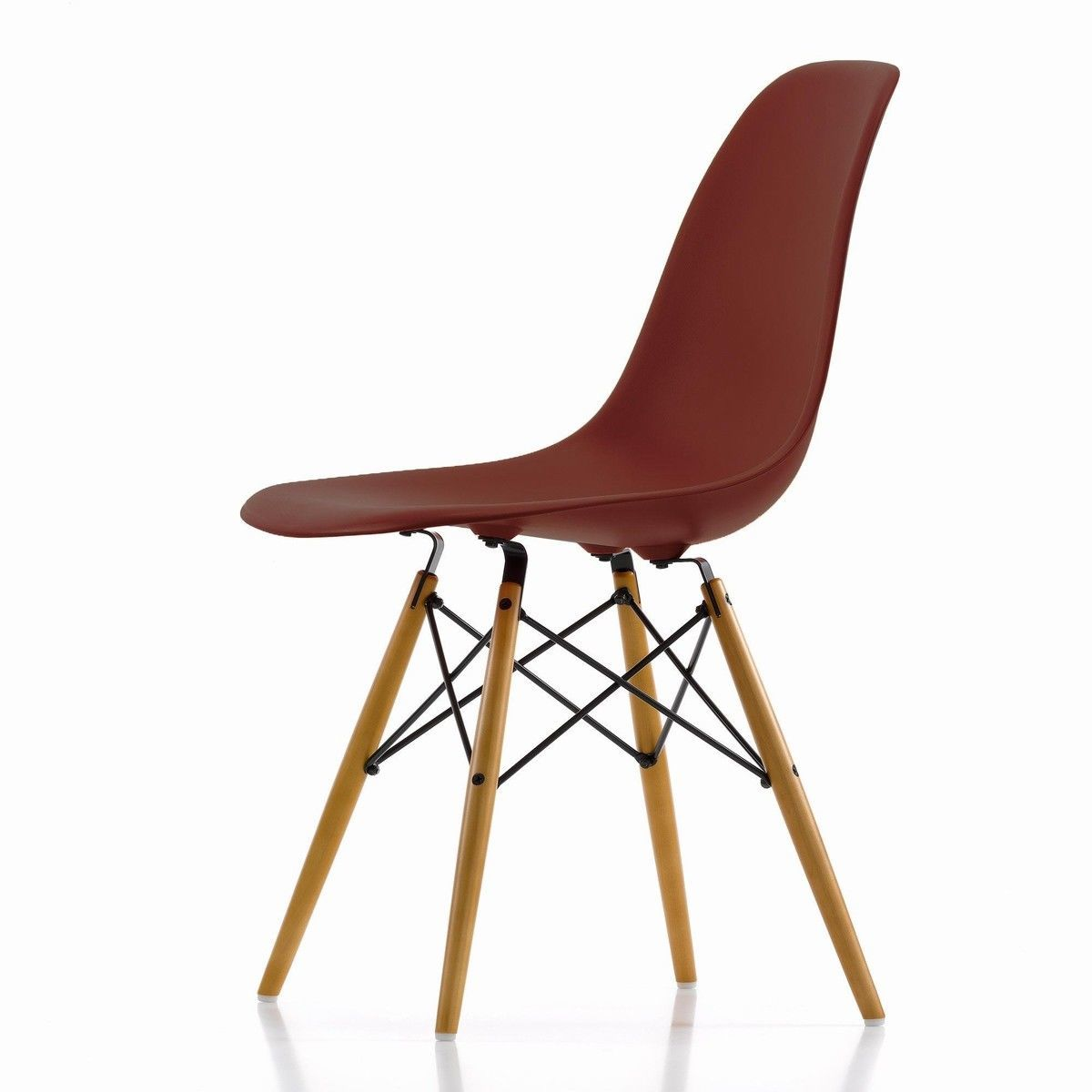 Eames plastic side chair dsw chaise h43cm vitra for Pietement eames