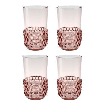 Kartell - Jellies Family Cocktailgläser-Set 4tlg. - rosa/transparent