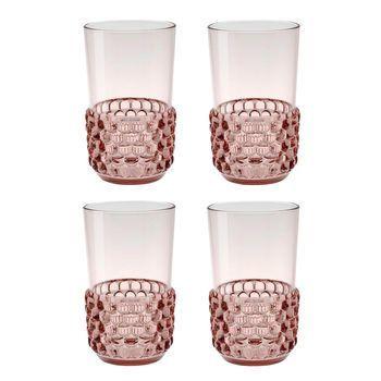 Kartell - Jellies Family Cocktailgläser-Set 4tlg. - rosa/transparent