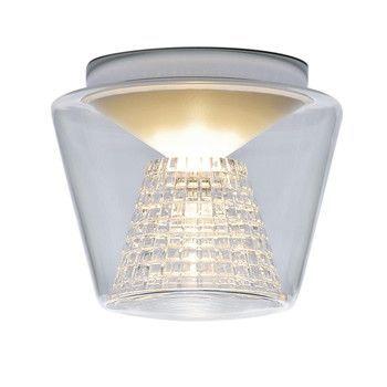 Serien - Annex Ceiling Deckenleuchte M - transparent/Reflektor: Kristallglas geschliffen/Ø22cm