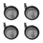 Kartell - Mobil Replacement wheels 4-piece Set - black