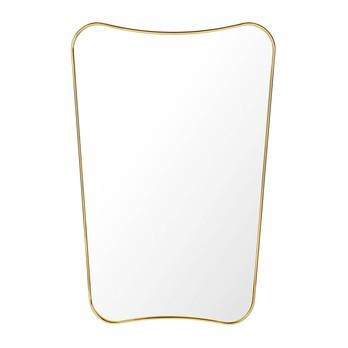 Gubi - Gio Ponti F.A.33 Rectangular Wandspiegel M - messing/poliert/BxHxT 54x80x2,5cm