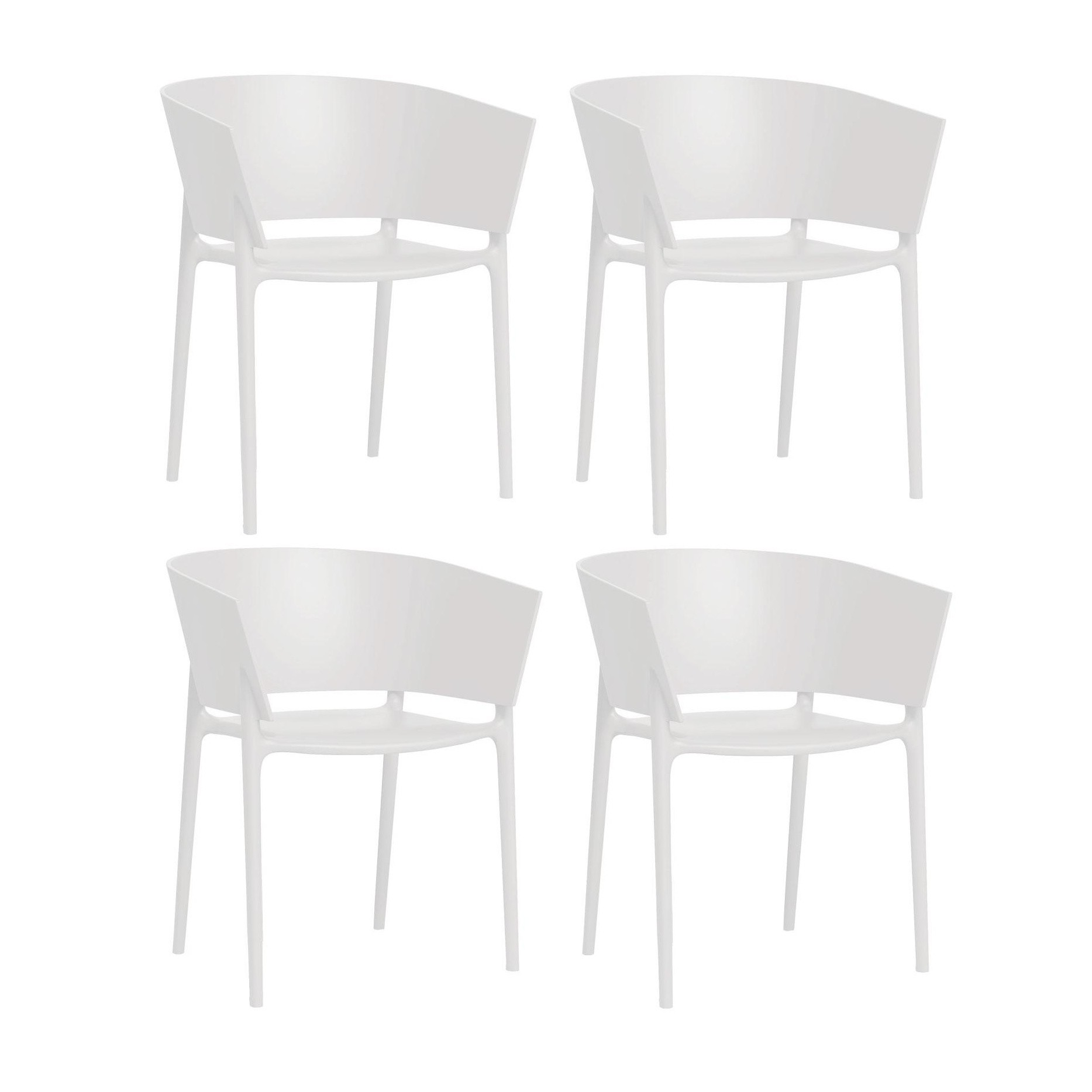 Vondom africa armchair 4 piece set white matt h x w