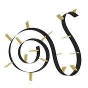 Kartell - Popworm 17 Regal - schwarz/gold