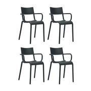 Kartell - Generic A - Set de 4 sillas con reposabrazos