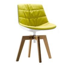 MDF Italia - Flow Stuhl Füße in Eiche gepolstert