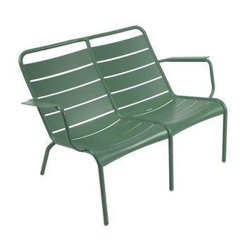 Fermob - Luxembourg Tiefer Sessel Duo - zederngrün/lackiert/tief