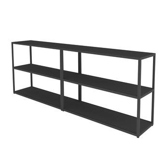 HAY - New Order Sideboard 200x74cm - charcoal dunkelgrau/lackiert