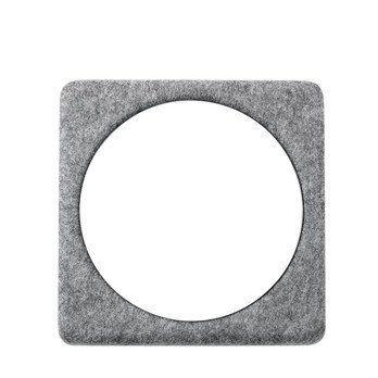 Menu - Filz Wandmodul Spiegel - Einzelstück - grau/Spiegel/30x30cm