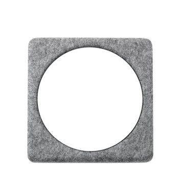 Menu - Filz Wandmodul Spiegel - grau/Spiegel/30x30cm