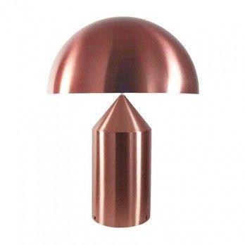 Oluce - Atollo Tischleuchte Kupfer Limited - kupfer/lackiert/mit Dimmer/H70cm/ Ø50 cm/Exklusiv nur bei AmbienteDirect.com!