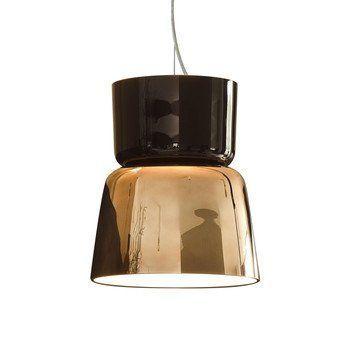 Prandina - Bloom S5 LED Pendelleuchte - kupfer schwarz/glänzend/H 42cm, Ø 36cm/3000K / 2100lm