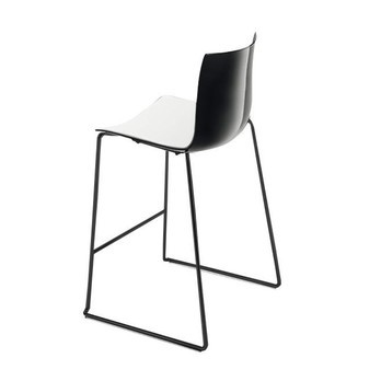 Awesome Catifa 46 0474 Bar Stool Low Bicoloured Black Caraccident5 Cool Chair Designs And Ideas Caraccident5Info