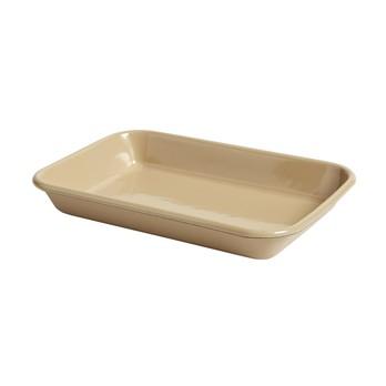 HAY - HAY Kitchen Market Enamel Tablett 506778 - braun/LxBxH 28x19.5x4cm