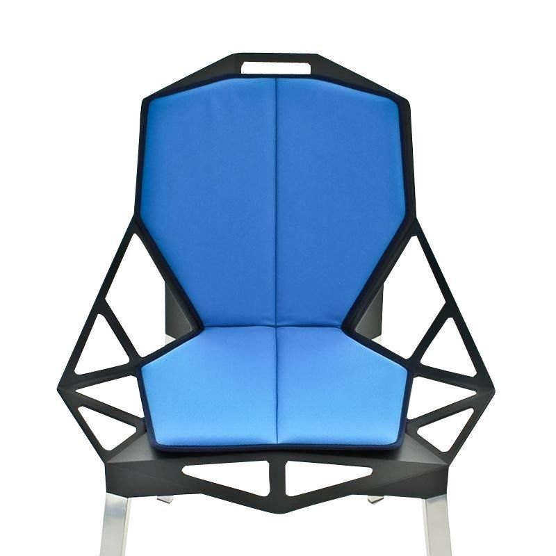 Magis   Chair One Seat Cushion With Backrest   Light Blue/Stoff ...