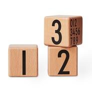 Design Letters - Design Letters - Cubes en bois numéros 0-9