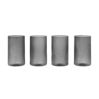 ferm LIVING - Ripple Trinkglas Set 4tlg. Ø 5,4cm