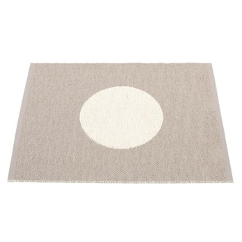 pappelina - Vera Small One Teppich 70x90cm - schlamm/vanille/wendbar/gewebt/Kante geschweißt/für Innen- und Außenbereich geeignet