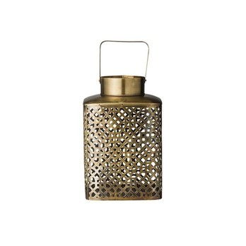 Bloomingville - Jaipur Laterne H 29,5cm - messing/glänzend/H 29,5cm/ Ø 18cm