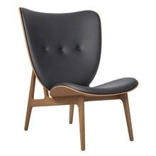 NORR 11 - Elephant Lounge Sessel Leder Gestell geräucherte Eiche