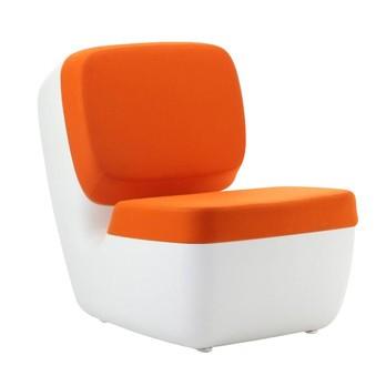 Magis - Nimrod Sessel - weiss/orange/Polyethylen/Bezug Stoff