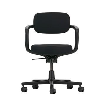 Vitra - Allstar Bürostuhl - schwarz/Sitzpolster Hopsak 66 schwarz/BxHxT 61x78,5x49,5cm/SH: 42-53cm