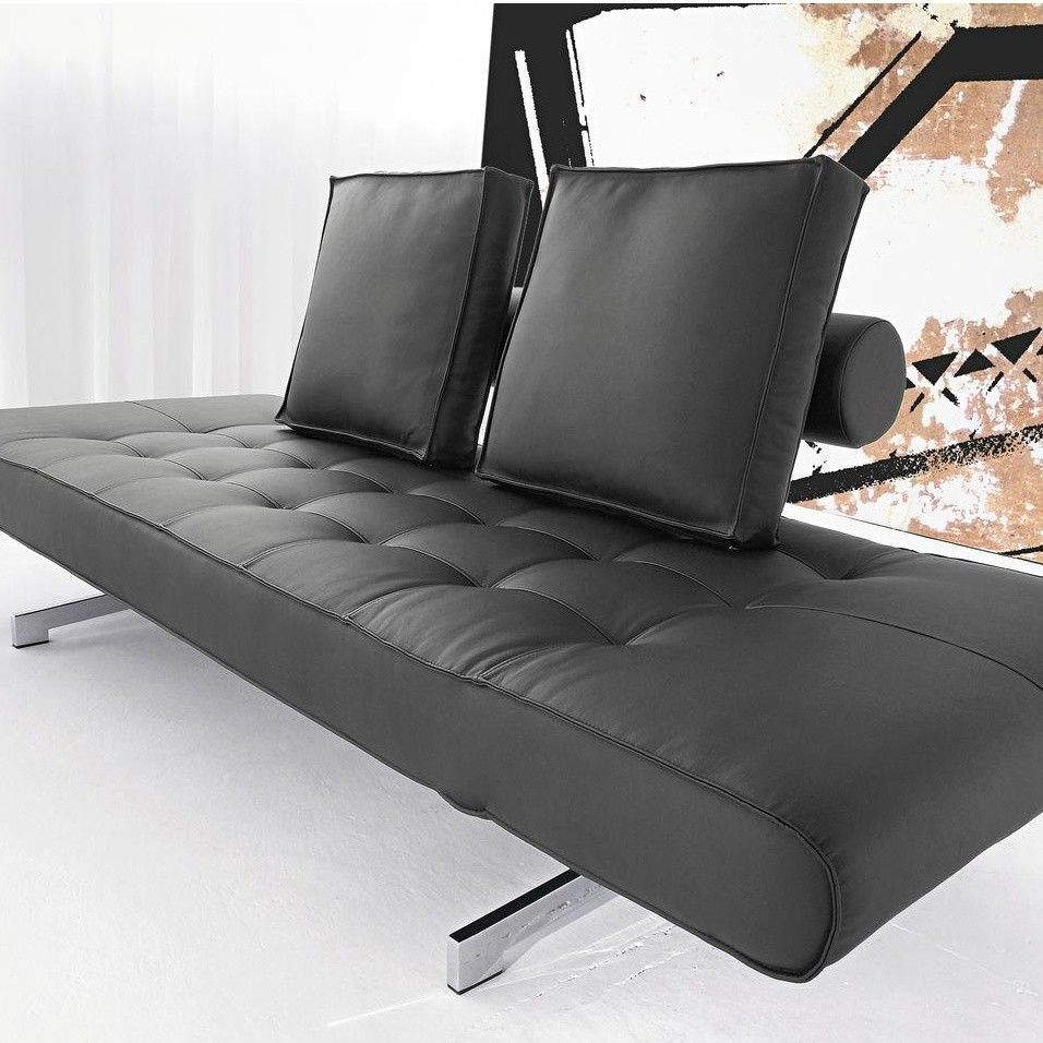 ghia canap lit en cuir synth tique innovation. Black Bedroom Furniture Sets. Home Design Ideas