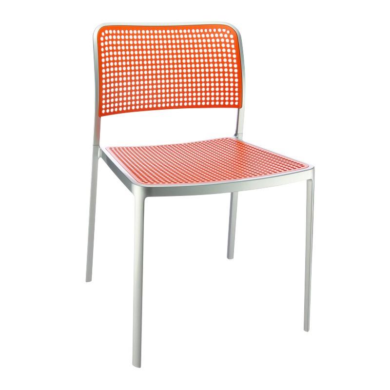 ... Kartell   Audrey Chair   Orange/frame Aluminium ...