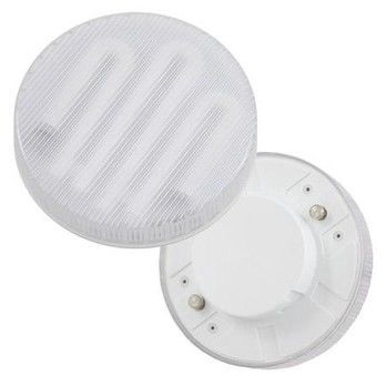QualityLight - FLUO GX53-1 Kompakt 8W WW - opal/Glas/Energieeffizienzklasse a/Gewichteter Energieverbrauch 9 kW/1000 h