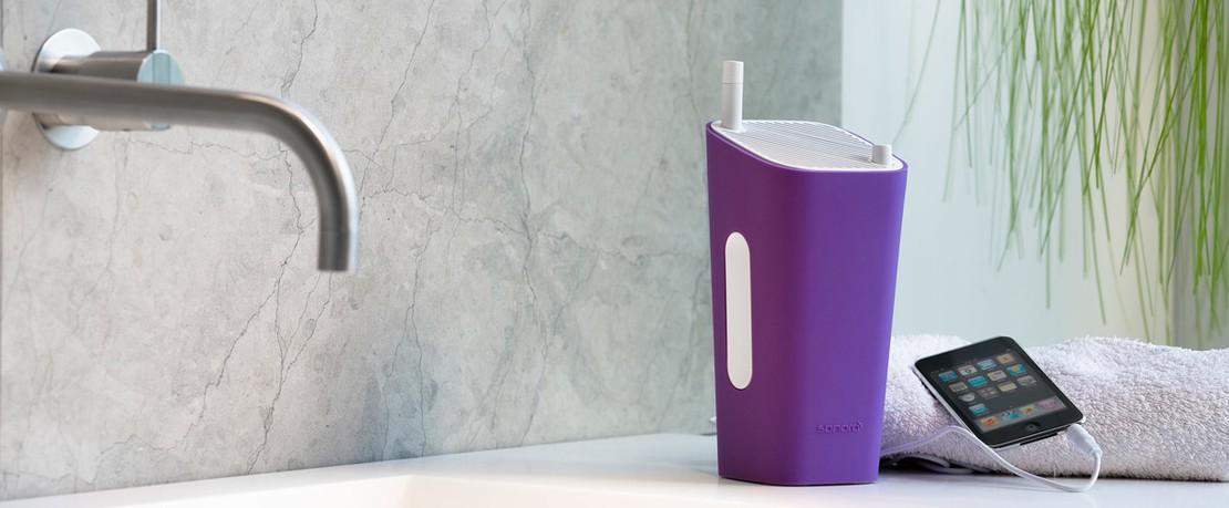 Sonoro CuboGo bathroom purple 300