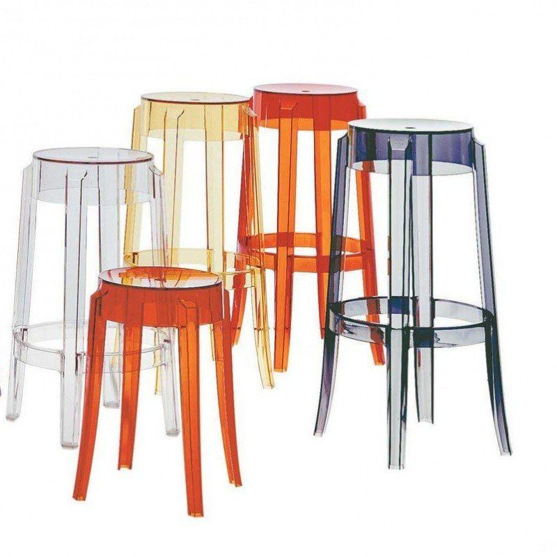 Charles Ghost Stool 75cm Kartell Ambientedirect Com