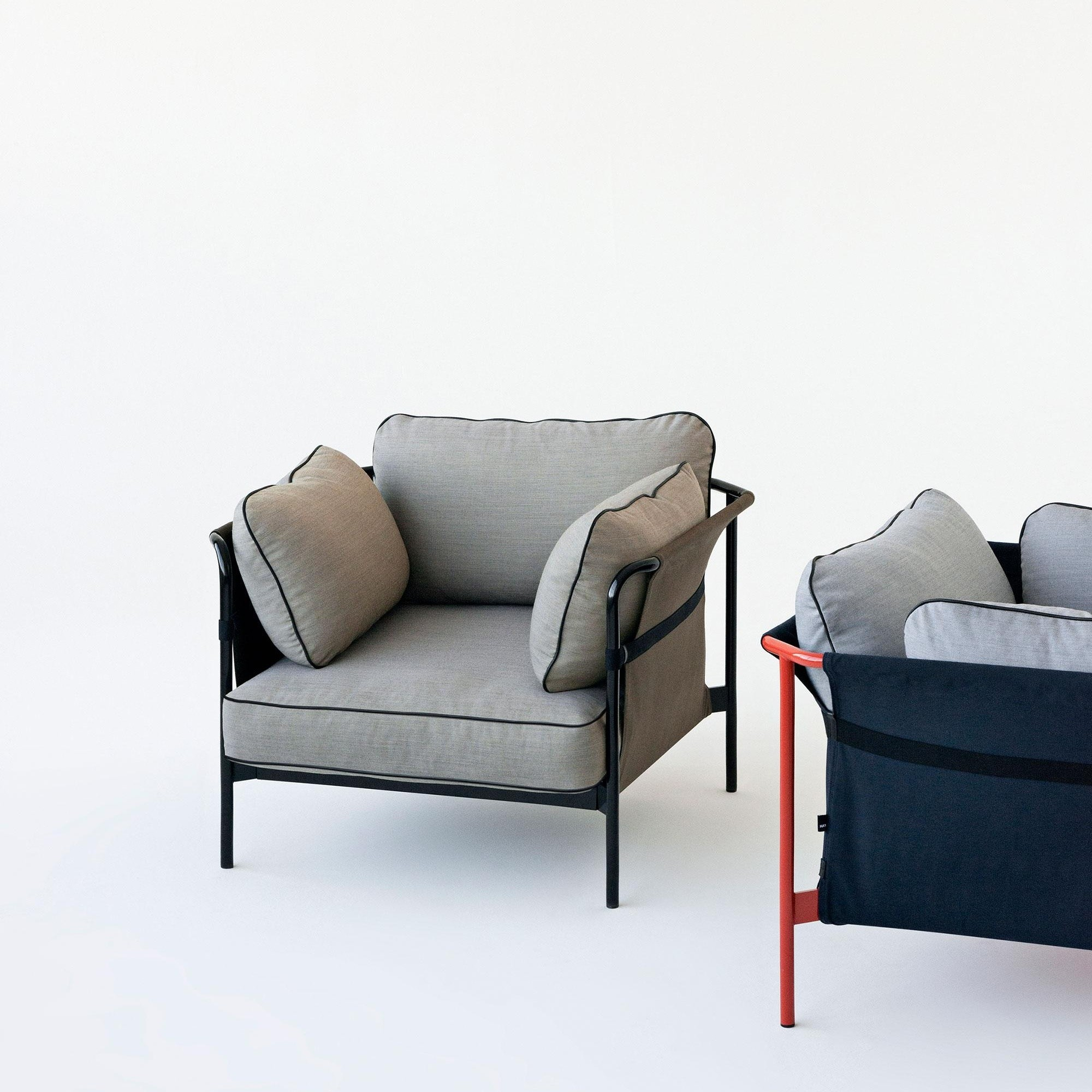 Hay Can Armchair Frame Black Ambientedirect