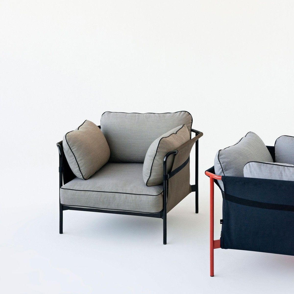 can sessel gestell schwarz hay. Black Bedroom Furniture Sets. Home Design Ideas