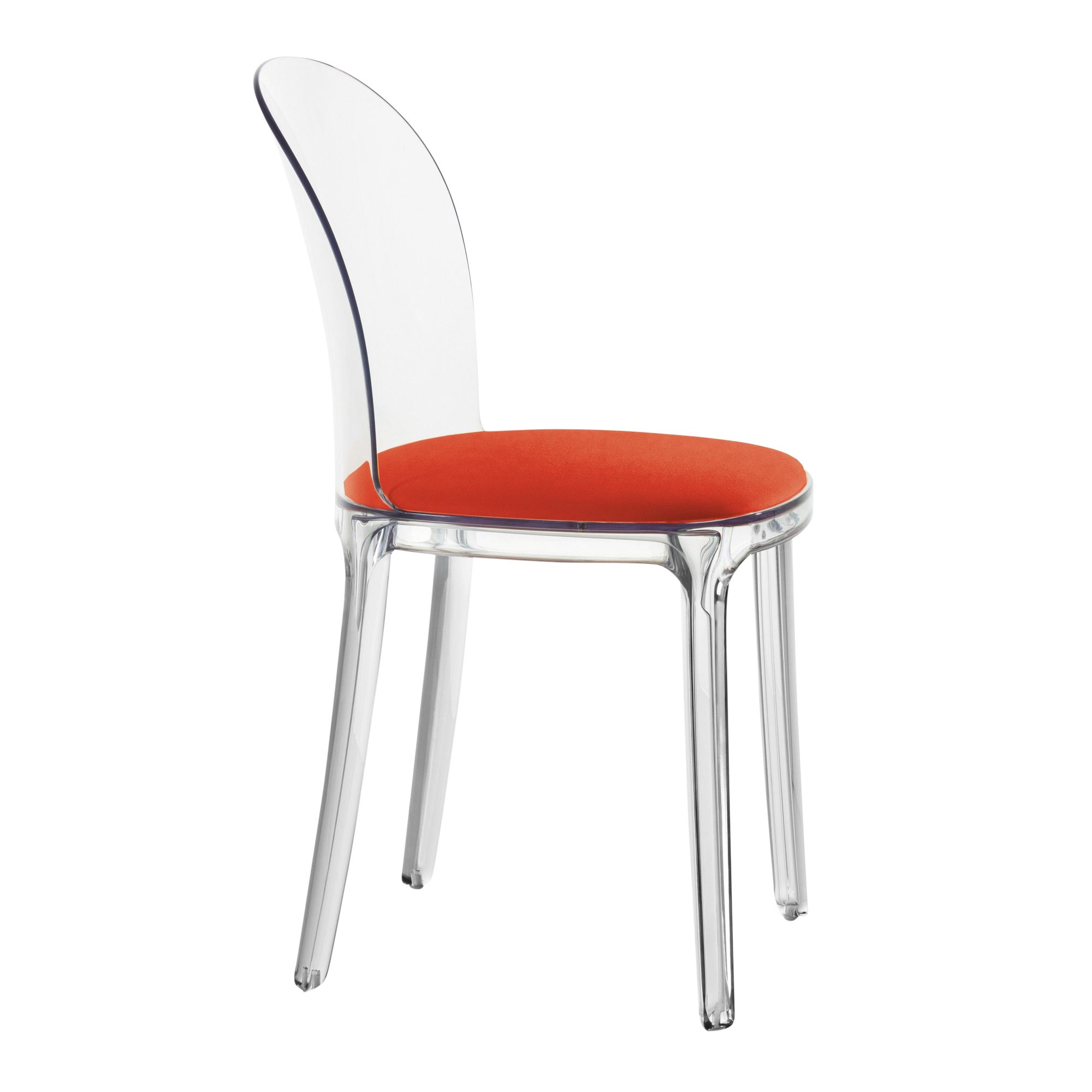 ... Magis   Vanity Chair Transparent   Transparent/fabric Kvadrat Field  662/cushion Red/