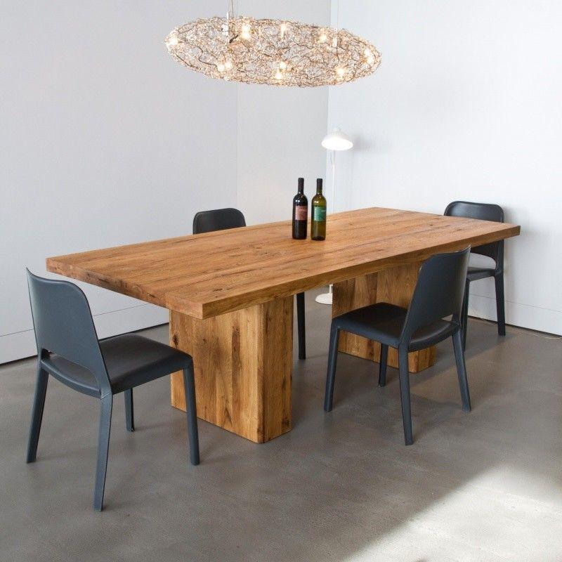 Ozelot mesa de comedor de madera maciza adwood for Mesa madera maciza