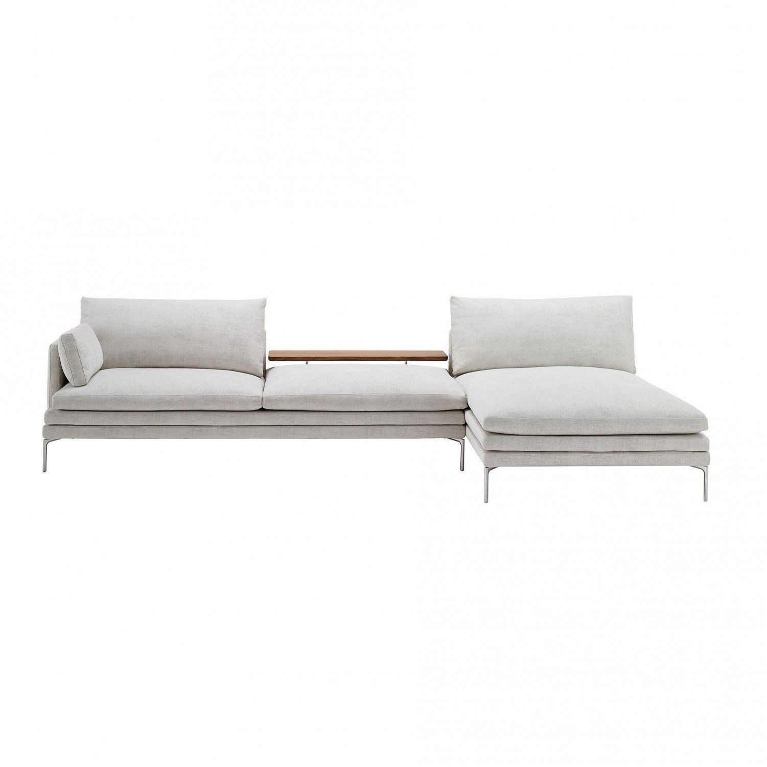 Superbe Zanotta   William Sofa With Chaise Longue 328x160cm   Light Grey/fabric  Tatto 26804/