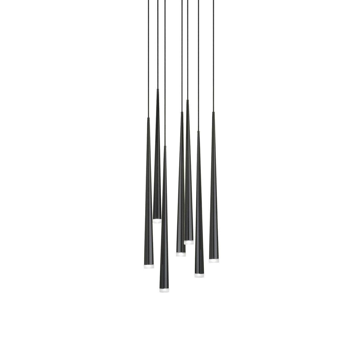 Pipe 3 led suspension lamp decor walther ambientedirect com - Vibia Slim 0916 Led Suspension Lamp Black Matt X H