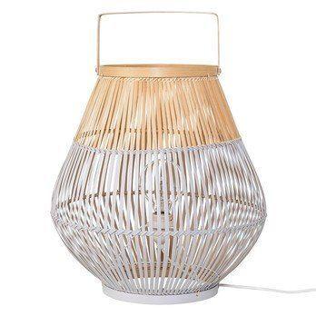 Bloomingville - Bamboo Bodenleuchte - kühles grau/natur/Ø37xH40cm