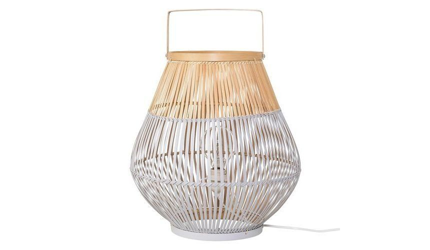 Bloomingville   Bamboo Floor Lamp   Cool Grey/nature/Ø37xH40cm ...