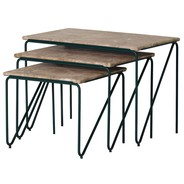 PLEASE WAIT to be SEATED - Triptych Nesting Tables - Set de 3 tables