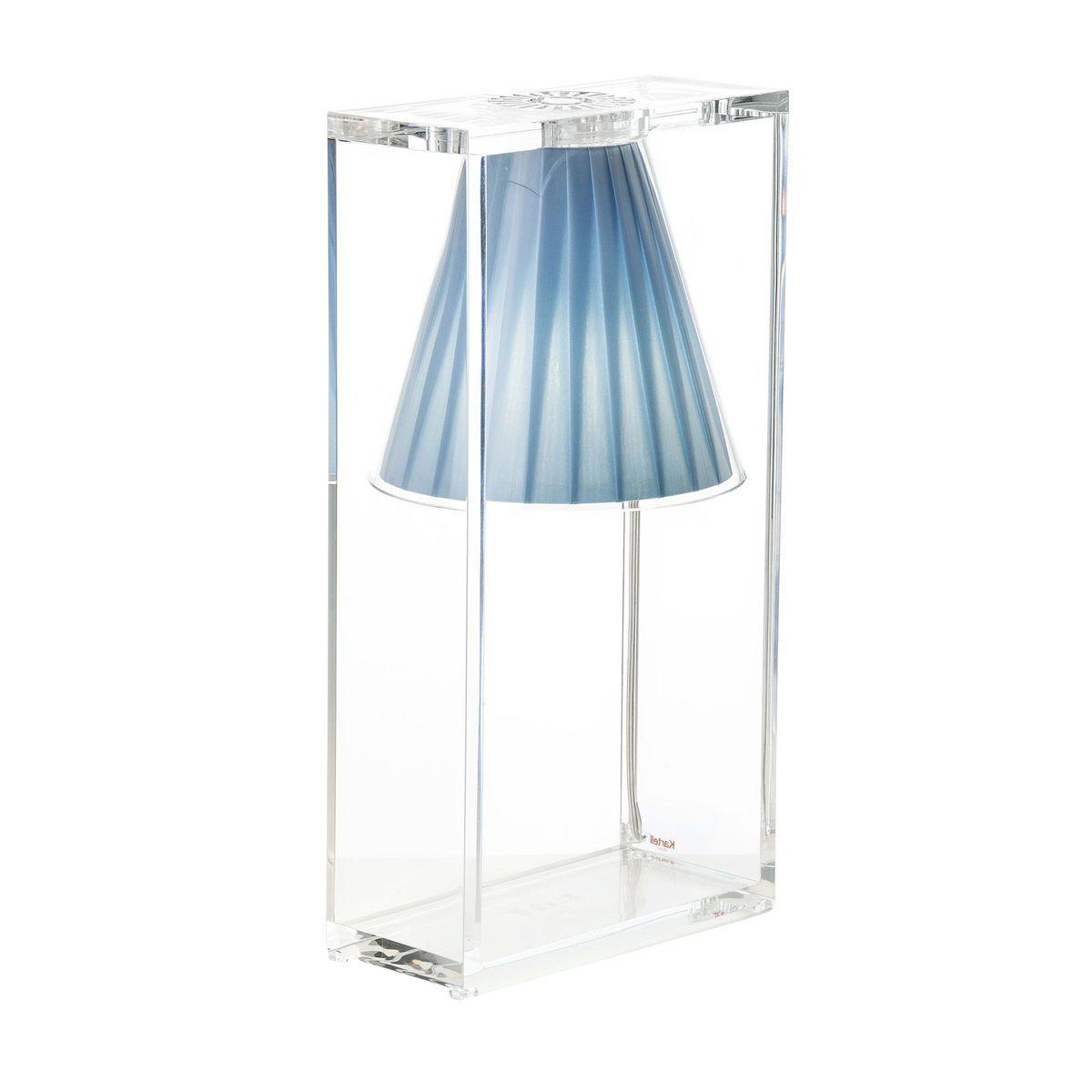 light air lampe de table abat jour tissu kartell. Black Bedroom Furniture Sets. Home Design Ideas