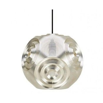 Tom Dixon - Curve Ball Pendelleuchte - silber/dimmbar/H:32cm