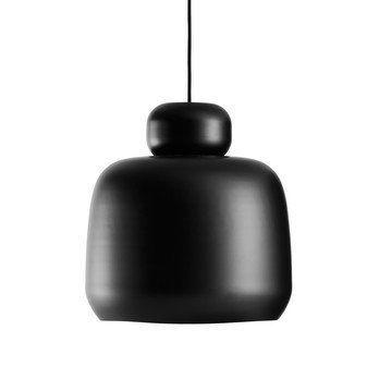 Woud - Stone Pendelleuchte Ø36cm - schwarz/lackiert/H 35,8cm/Ø 36cm
