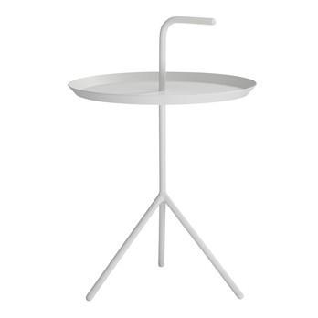 HAY - DLM Beistelltisch - weiß/Ø 38cm/Höhe Ablage: 44cm