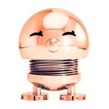 Hoptimist - Hoptimist Baby Bimble Wackelfigur - kupfer/glänzend/H6,5cm/Ø5,0cm/mit Federmechanismus