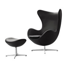 Fritz Hansen - Aktion Egg Chair/Das Ei™ Sessel + Hocker Leder